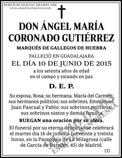 Ángel María Coronado Gutiérrez